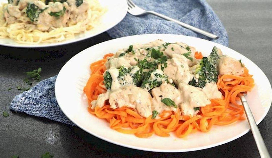 Chicken & Broccoli Alfredo with Veggie Noodles