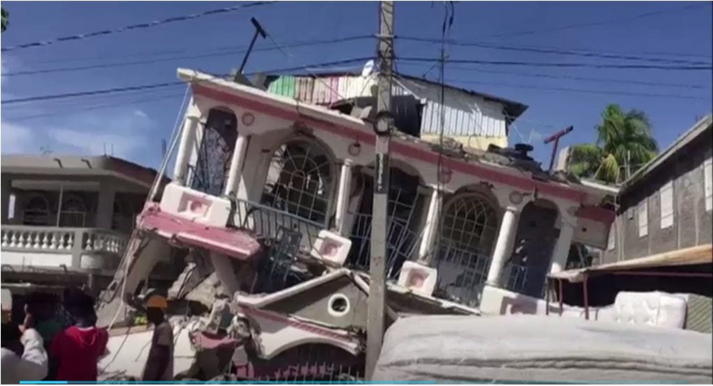 destruction from the haiti earthquake august 2021