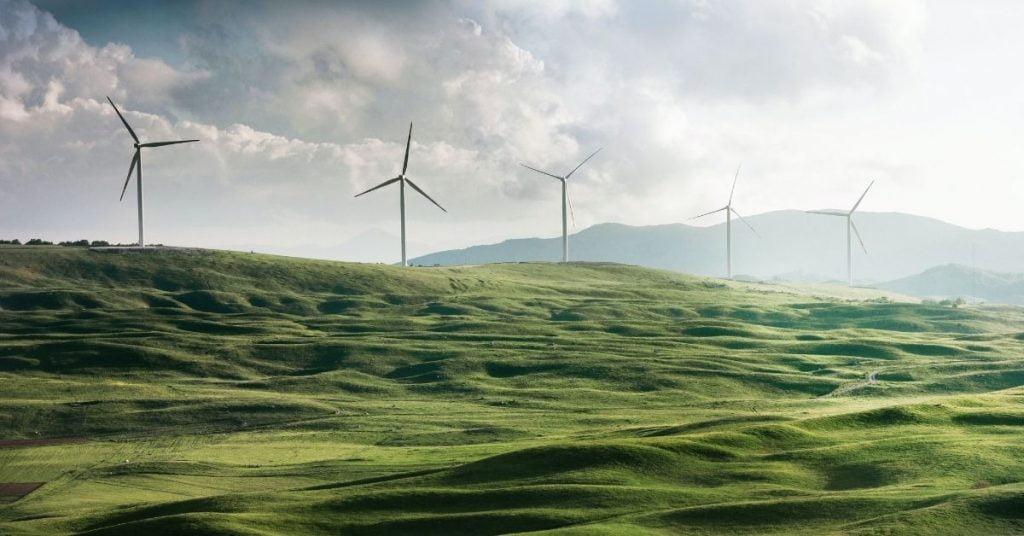 Valley of windmills