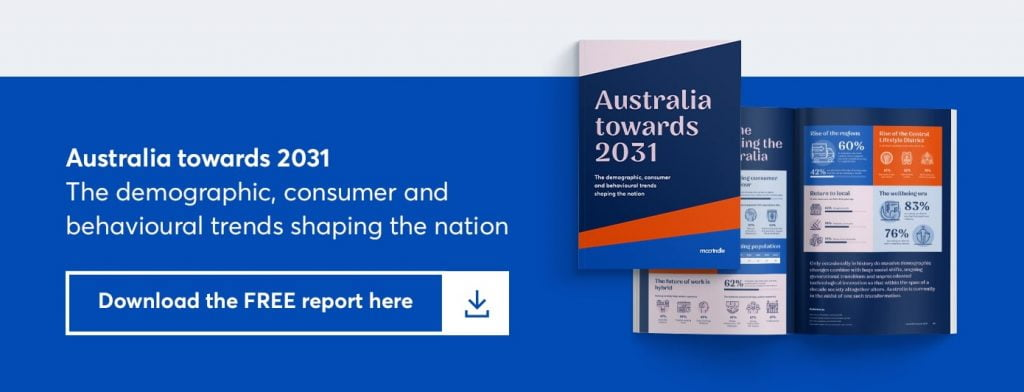 australia towards 2031. the demographic, consumer and behavioural trends shaping the nation